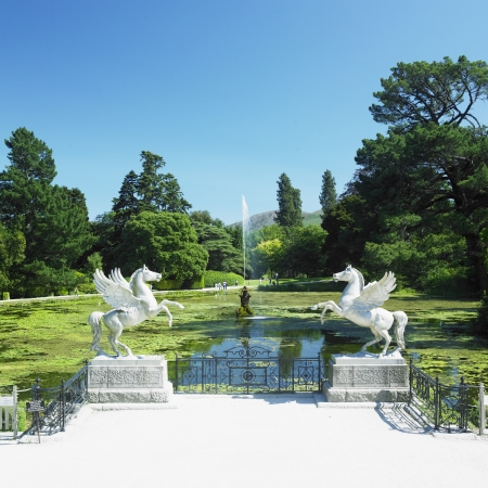 Triton's Lake, Powerscourt Gardens, County Wicklow, Ireland Standard-Bild