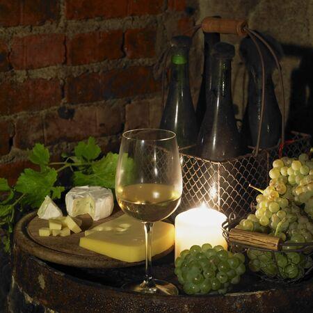 wine register: still life in wine cellar, Bily sklep rodiny Adamkovy, Chvalovice, Czech Republic Stock Photo