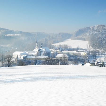 friaries: monastery, Vyssi Brod, Czech Republic Stock Photo