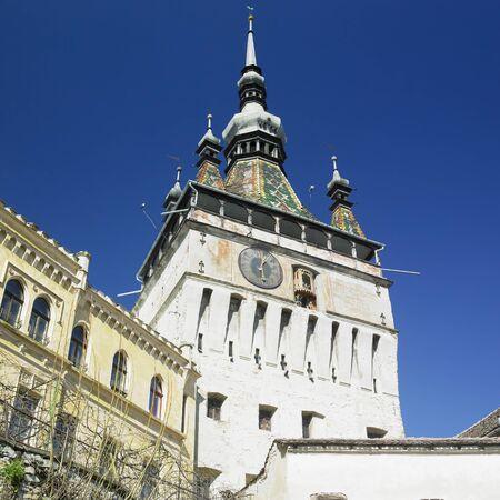 rumania: Tower of the Clock, Sighisoara, Transylvanie, Romania