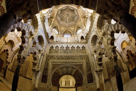 andalucia: interior of Mosque-Cathedral, Cordoba, Andalusia, Spain