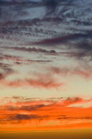 nightfall: clouds during sunset