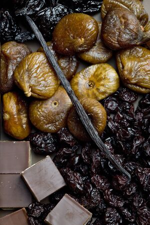 dried fruit with chocolate photo