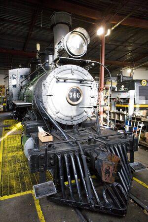 stem locomotive depot, Colorado Railroad Museum, USA Stock Photo - 15371011