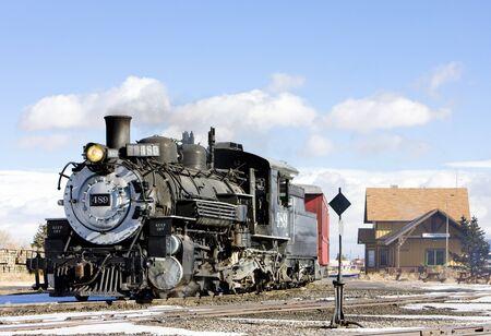 Cumbres and Toltec Narrow Gauge Railroad, Antonito, Colorado, USA Stock Photo - 15370949