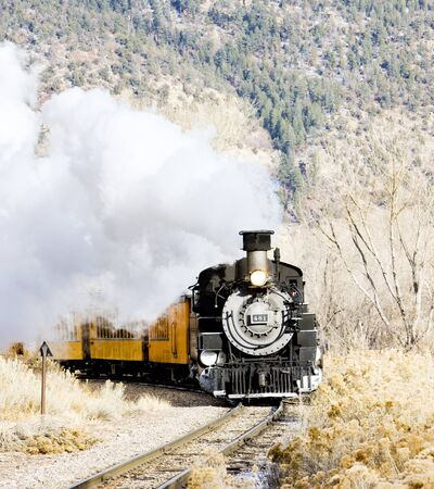 steam traction: Durango and Silverton Narrow Gauge Railroad, Colorado, USA