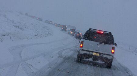 winter on the roads, Arizona, USA