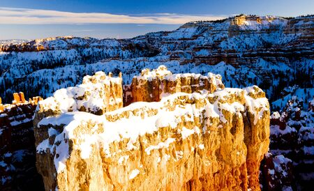 Sunset Point, Bryce Canyon National Park in winter, Utah, USA photo