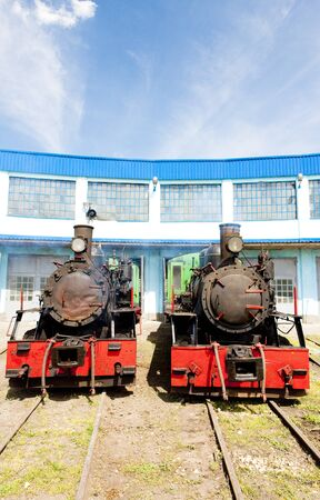 steam locomotives in depot, Kostolac, Serbia Stock Photo - 15370967