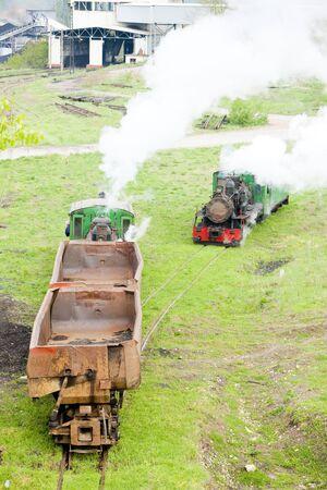 steam freight trains, Kostolac, Serbia Stock Photo - 15372640