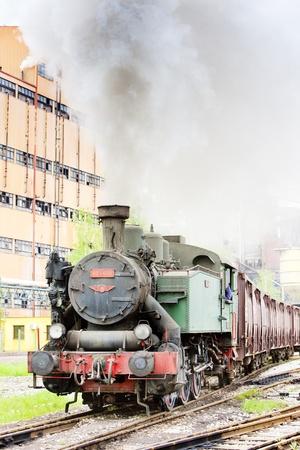 steam traction: steam freight train, Kolubara, Serbia Editorial