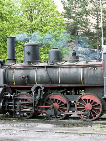 detail of steam locomotive (126.014), Resavica, Serbia photo