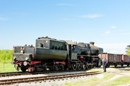 steam freight train in Tuzla region, Bosnia and Hercegovina Stock Photo - 15370965