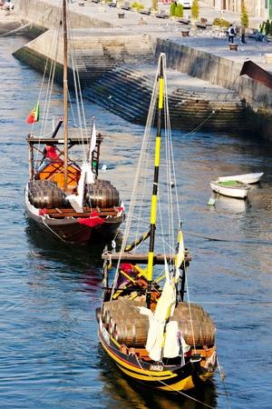 rabelo: typical boats (rabelos), Porto, Portugal
