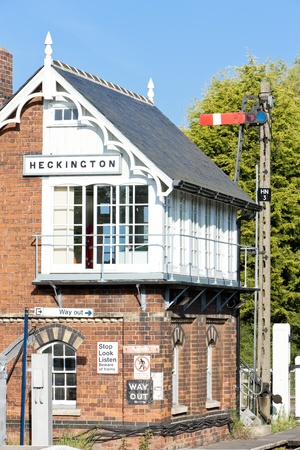 signalling device: railway museum and railway station, Heckington, East Midlands, England