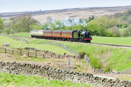 steam train, North Yorkshire Moors Railway (NYMR), Yorkshire and the Humber, England Stock Photo - 15371008