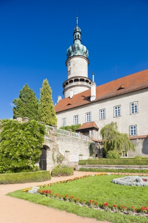 nad': Castle of Nove Mesto nad Metuji with garden, Czech Republic