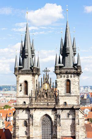 tynsky church: Tynsky church at Old Town Square, Prague, Czech Republic
