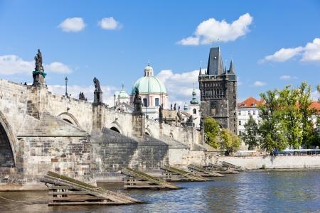 Charles bridge, Prague, Czech Republic Redakční