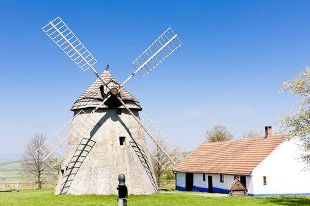windmill, Kuzelov, Czech Republic Stock Photo