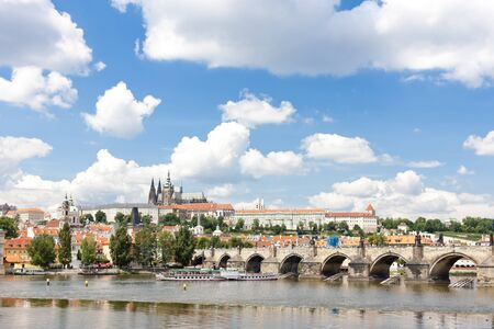 Hradcany with Charles bridge, Prague, Czech Republic photo