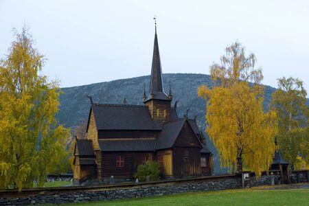 falltime: Lom Stavkirke, Norway