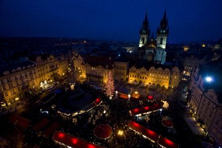 r�publique  tch�que: Old Town Square � No�l, Prague, R�publique tch�que