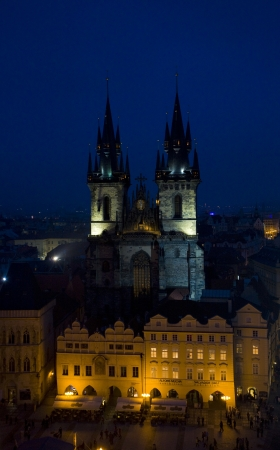 staromestke namesti: Tynsky church, Old Town Square, Prague, Czech Republic Stock Photo