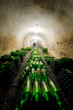 ilustrations: wine archive, Hort Winery, Znojmo - Dobsice, Czech Republic Stock Photo