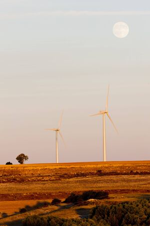 windy energy: wind turbines, Castile and Leon, Spain