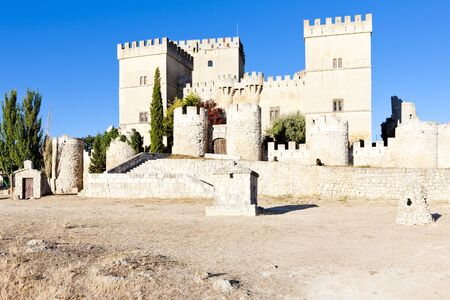 Castle of Ampudia, Castile and Leon, Spain Stock Photo - 15669211