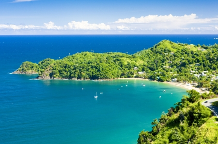 seascapes: Castara Bay, Tobago Stock Photo