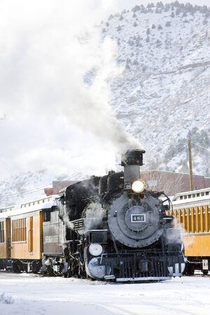 narrow gauge railroad: Durango and Silverton Narrow Gauge Railroad, Colorado, USA