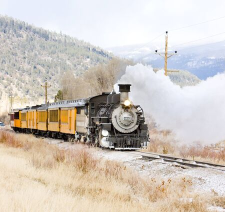 Durango and Silverton Narrow Gauge Railroad, Colorado, USA Stock Photo - 16770058