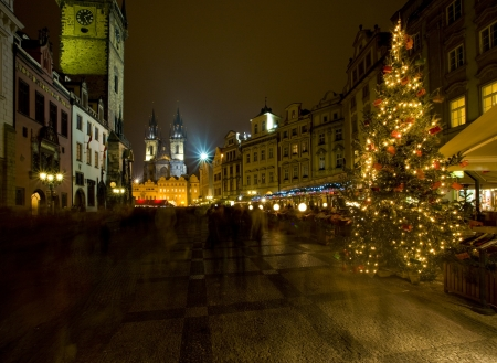 staromestke namesti: Old Town Square at Christmas, Prague, Czech Republic