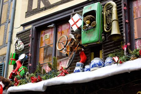 christmas grounds: Christmas decoration, Strasbourg, Alsace, France