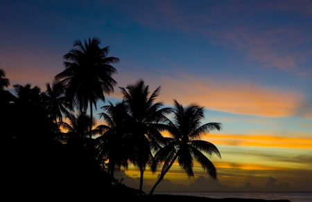 sunset over Caribbean Sea, Turtle Beach, Tobago Stock Photo - 17173547