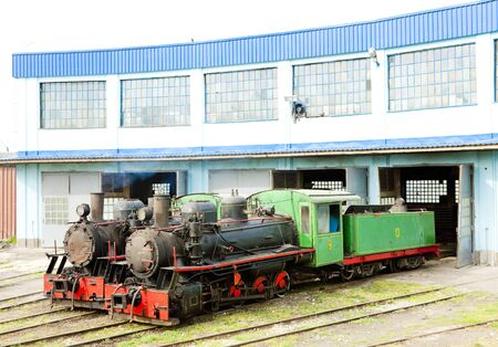 steam locomotives in depot, Kostolac, Serbia Stock Photo - 17175719