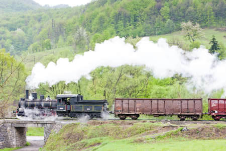 steam freight train (126.014), Resavica, Serbia Stock Photo - 17175746
