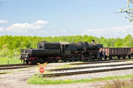 steam freight train in Tuzla region, Bosnia and Hercegovina Stock Photo - 17175751