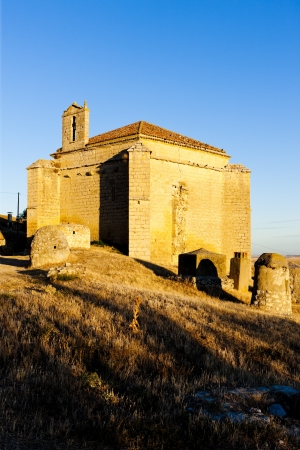 castile leon: church in Ampudia, Castile and Leon, Spain
