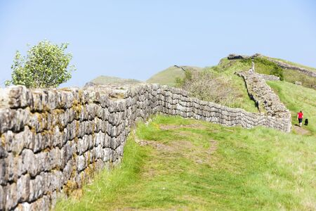 Hadrian's wall, Northumberland, England Stock Photo - 17175734