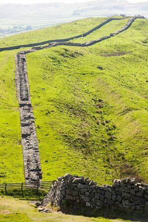 Hadrian's wall, Northumberland, England Stock Photo - 17176359