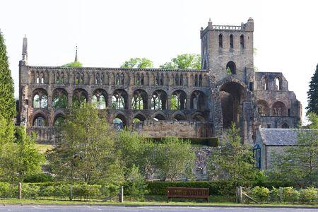 abbey ruins abbey: ruins of Jedburgh Abbey, Scottish Borders, Scotland