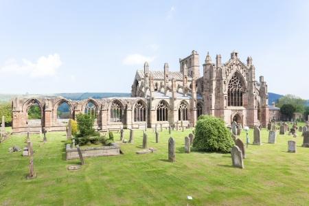 abbey ruins abbey: ruins of Melrose Abbey, Scottish Borders, Scotland