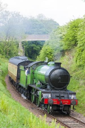 steam train, Bo'Ness   Kinneil Railway, Lothians, Scotland Stock Photo - 17175725