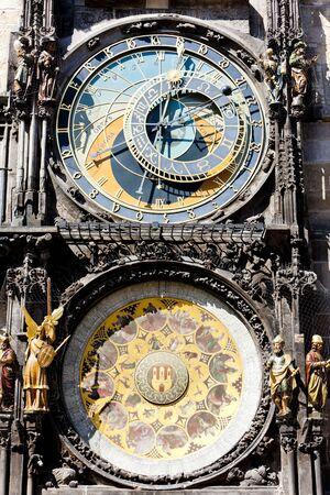 staromestke namesti: Horloge at Old Town Square, Prague, Czech Republic