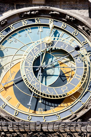 horologe: Horloge at Old Town Square, Prague, Czech Republic