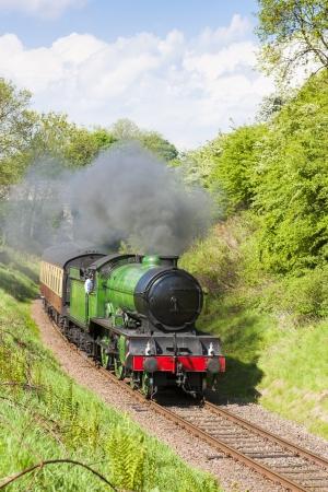 steam train, Bo'Ness   Kinneil Railway, Lothians, Scotland Stock Photo - 17362348