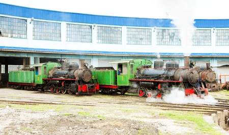 steam locomotives in depot, Kostolac, Serbia Stock Photo - 17982011
